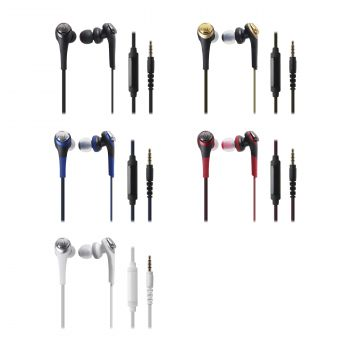 Audio-Technica ATH-CKS550iS Solid Bass® In-Ear Headphones with In-line Mic & Control