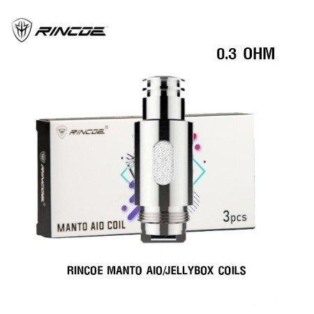 F Rincoe Manto AIO/Jellybox Coils 0.3 ohm  (1กล่อง3 ชิ้น)