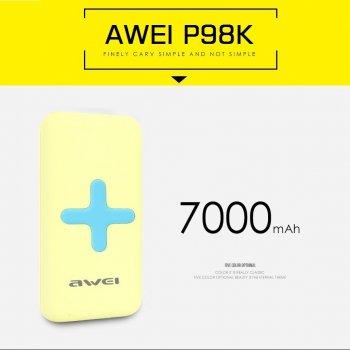 powerbank ไร้สาย Awei Wireless Charger Power Bank P98K