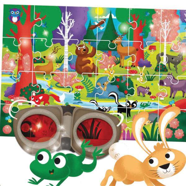 LUDATTICA Secret Puzzle 24Pcs The Wood