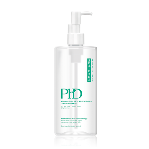 PhD Advanced Acne Pore-Tightening Cleansing Water 500 Ml.