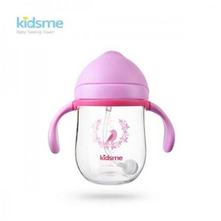 ขวดน้ำหัดดื่มไตรตัน KIDSME Tritan cup with Handle สี PINK ขนาด 240 ML แบบหูจับ