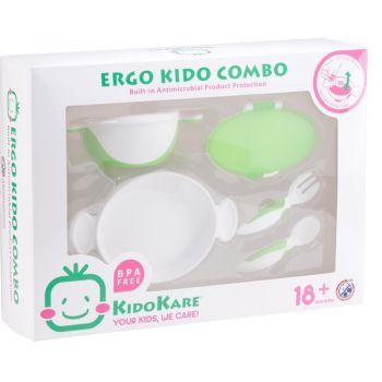 ชุดจานชามและช้อนส้อม Ergo Kido Combo