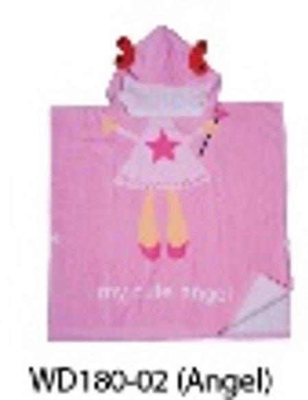 Towel Poncho ผ้าเช็ดตัวฮู้ดเด็กเล็ก Angel Pink (WTC-WD180-02)