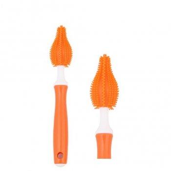 แปรงล้างซิลิโคนล้างจุกนม - สีส้ม (MLB102-02)