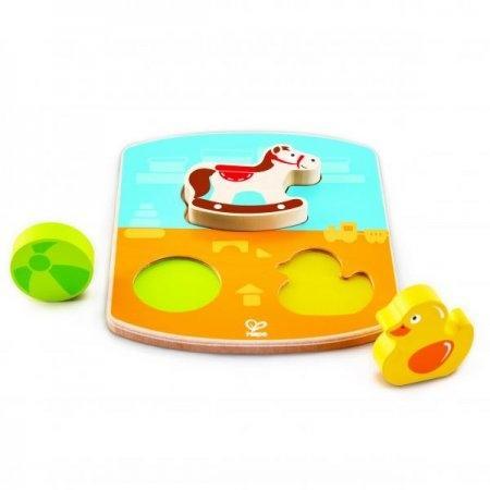 ของเล่นไม้ Hape ปริศนาตัวต่อชิ้นหนาสำหรับเด็ก 12 เดือน[DS]