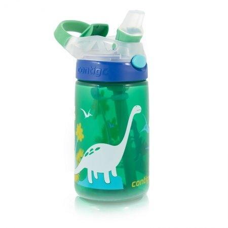กระติกน้ำเด็กพร้อมหลอดดูด รุ่น GIZMO FLIP GREEN WITH DINOSUARS[DS]