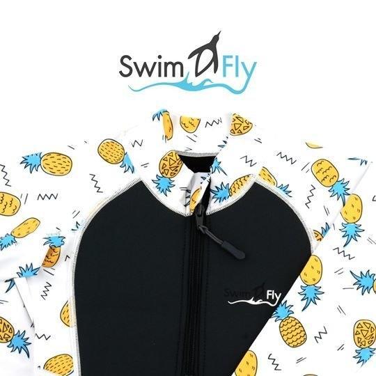 ชุดว่ายน้ำ SWIMFLY รุ่น Tropical Collection ลายสับปะรด - สีดำ Sizeชุดว่ายน้ำ SWIMFLY รุ่น Tropical Collection ลายสับปะรด - สีดำ Size 8-12