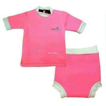 ชุดว่ายน้ำกันหนาว SWIMFLY Explorer สำหรับเด็ก 2-3 ปี - สีชมพู