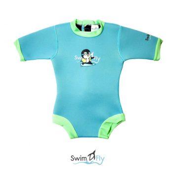 ชุดว่ายน้ำเด็กกันหนาว SWIMFLY Explorer Bodysuit สีฟ้า