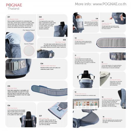 POGNAE No.5 Plus - Denim Blue