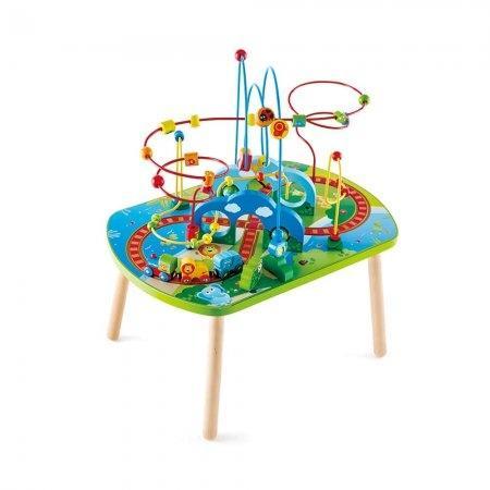 ของเล่นไม้ Hape Jungle Adventure Railway Table โต๊ะรถไฟท่องพงไพร[DS]
