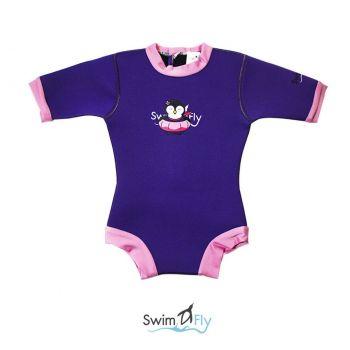 ชุดว่ายน้ำเด็กกันหนาว SWIMFLY Explorer Bodysuit สีม่วง