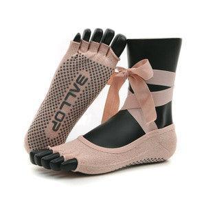 ถุงเท้าโยคะ Ballop รุ่น HONEYBEE Peach Pink