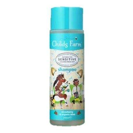 Childs Farm แชมพูสูตรเพิ่มความชุ่มชื้นให้เส้นผม (shampoo, strawberry & organic mint)[DS]