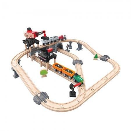 ของเล่นไม้ Hape Mining Loader Set เซตรถไฟขนส่งเมืองแร่[DS]