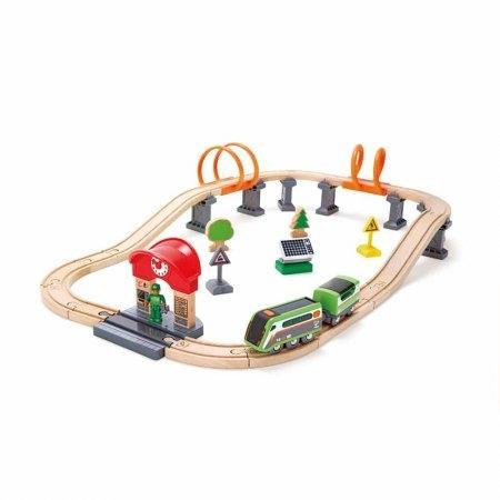 ของเล่นไม้ Hape Solar Power Circuit ชุดรถไฟพลังงานโซลาร์[DS]