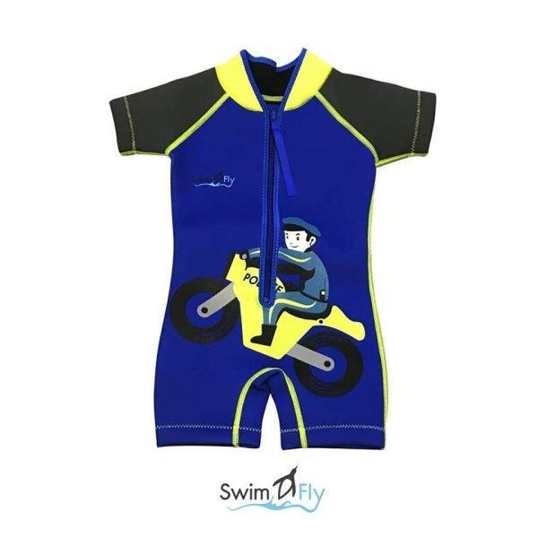 ชุดว่ายน้ำ SWIMFLY รุ่น Imaginary ลายตำรวจ - สีน้ำเงิน Size XS-XL