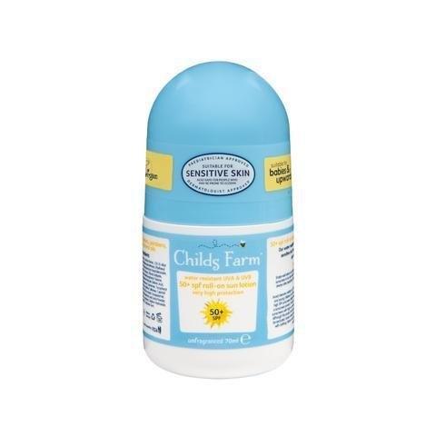Childs Farm โลชั่นกันแดด 50+ SPF แบบโรลออน (roll-on sun lotion, unfragranced )[DS]