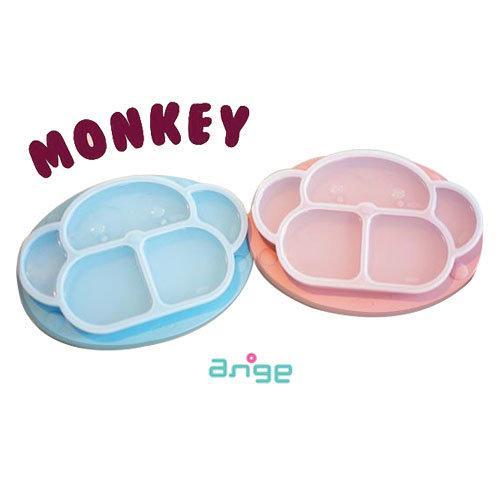 จานดูดซิลิโคน ANGE Monkey Plate