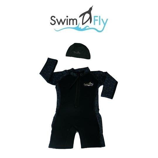 ชุดว่ายน้ำ SWIMFLY รุ่น Spirit ลายกราฟฟิค - สีดำ Size S-XXL