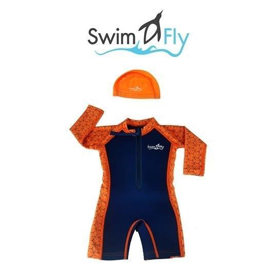 ชุดว่ายน้ำ SWIMFLY รุ่น Spirit (Graphic - สีส้ม) S-XXL