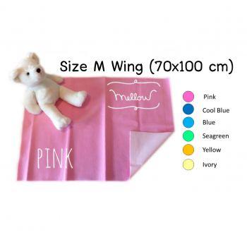 ผ้ารองกันฉี่ 100% Mellow Quickdry Wing (Size M 70x100 cm)