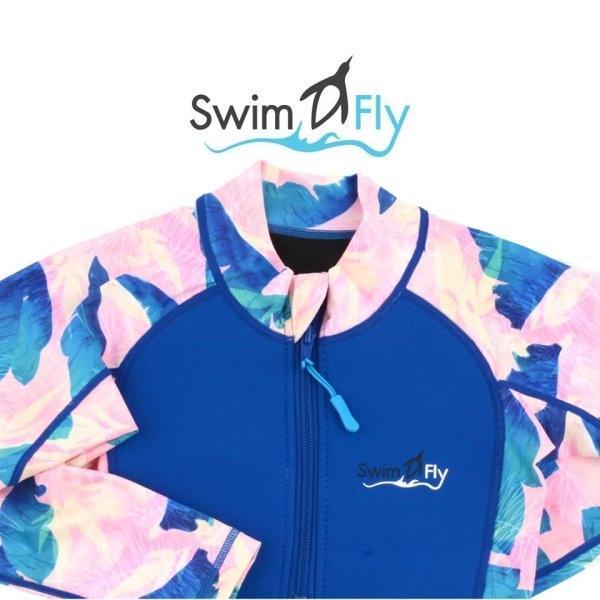 ชุดว่ายน้ำ SWIMFLY รุ่น Tropical Collection ลายใบไม้ - สีน้ำเงิน Size 8-14
