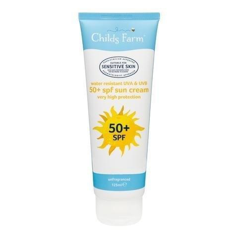 Childs Farm 50+ SPF Sun Cream (ชายด์ ฟาร์ม ครีมกันแดด 125 มล. เอสพีเอฟ 50+) [DS]