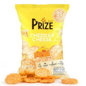 ชุด 5 ถุง ไพรซ์ ข้าวกล้องพองอัดแผ่น รสเชดด้าชีส 20 ก./5 bags of Prize Popped Wholegrain Rice Chips Cheddar Cheese Flavor 20 g