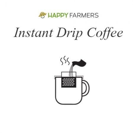 2FREE1 - B0 กาแฟอินทรีย์ดริป HappyFarmers แบบ Instant Drip
