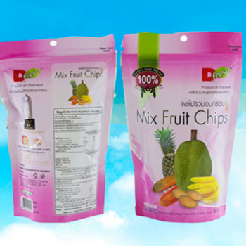 ดี เฟรช ฟรุ๊ต ผลไม้รวมอบกรอบ 50 ก. D Fresh Fruit Crispy Mix Fruit Chips 50 g