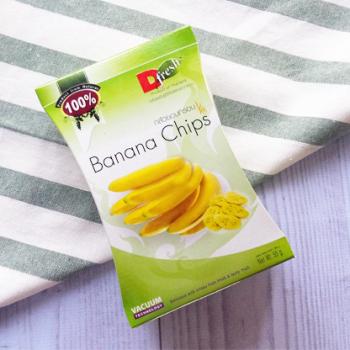 ดี เฟรช ฟรุ๊ต กล้วยหอมอบกรอบ 55 ก. D Fresh Fruit Crispy Banana Chips 55 g