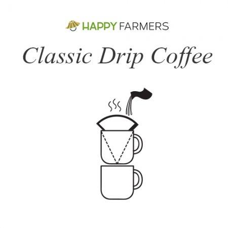 B2 ชุดกาแฟอินทรีย์ดริป HappyFarmers พร้อมดริปเปอร์เซรามิก  B2 HappyFarmers 'Coffee Grows a Forest' Gift Set –Classic Drip Coffee with a Coffee Dripper