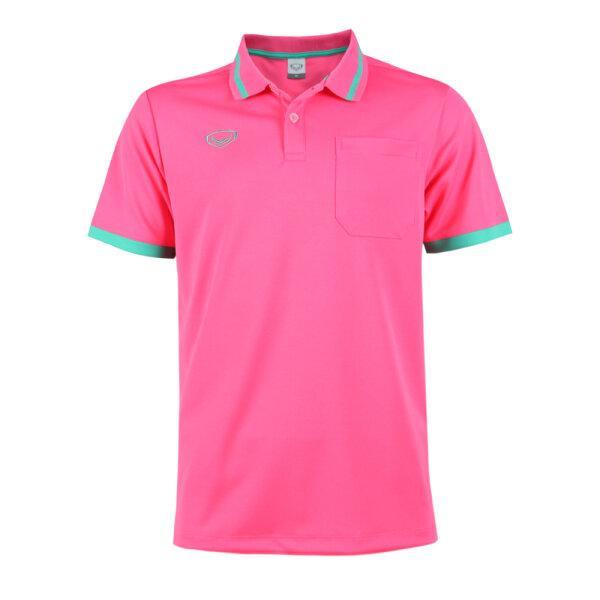 เสื้อโปโลชายแกรนด์สปอร์ต รหัสสินค้า : 012585 (สีชมพู)