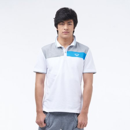 เสื้อโปโลแกรนด์สปอร์ต (สีขาว)รหัสสินค้า : 012229