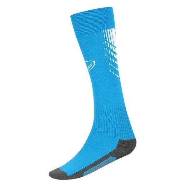 แกรนด์สปอร์ต ถุงเท้ากีฬาฟุตบอลทอลาย (สีฟ้า) รหัส:025130