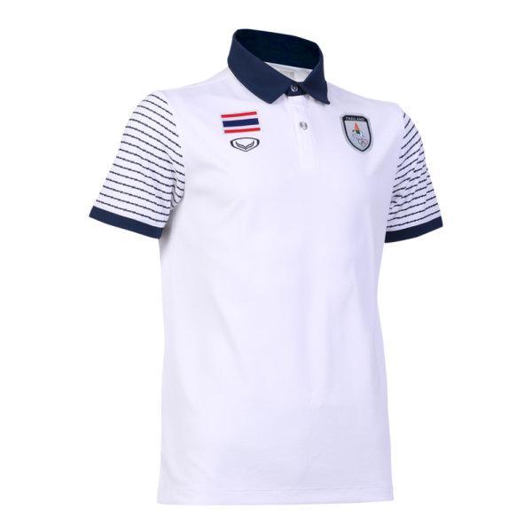 เสื้อโปโลแกรนด์สปอร์ต ซีเกมส์ 2019 รหัส :012243 (สีขาว)