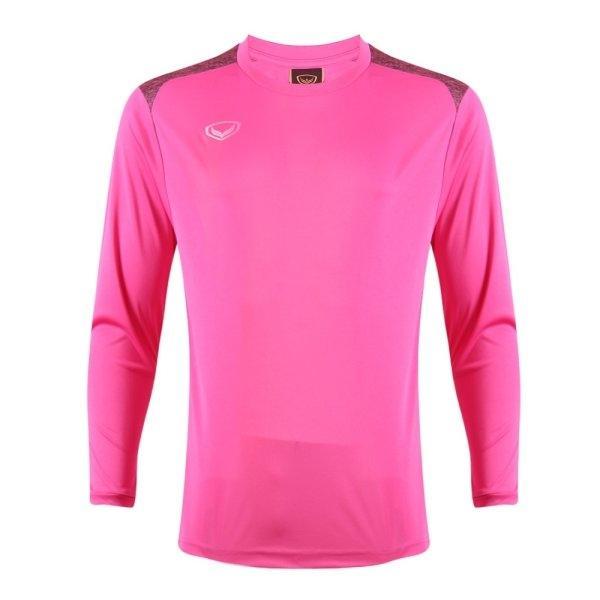 เสื้อกีฬาฟุตบอลแขนยาว แกรนด์สปอร์ต รหัส : 011475 (สีบานเย็น)