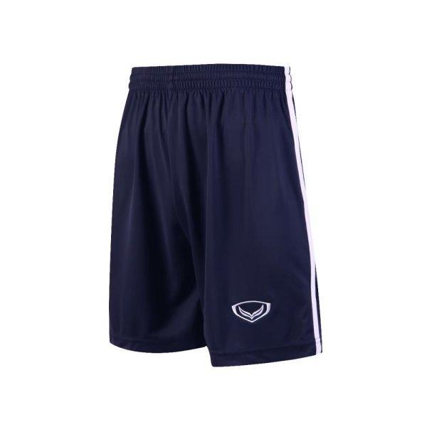 กางเกงกีฬาฟุตบอล แกรนด์สปอร์ต รหัส : 001543 (สีกรม-ขาว)