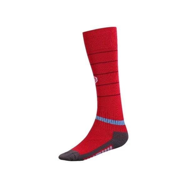 ถุงเท้ากีฬาฟุตบอลทอลาย  รหัส : 025134 (สีแดง)