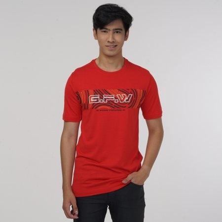 เสื้อ T-shirt พิมพ์ GFW สีแดง รหัส :023166