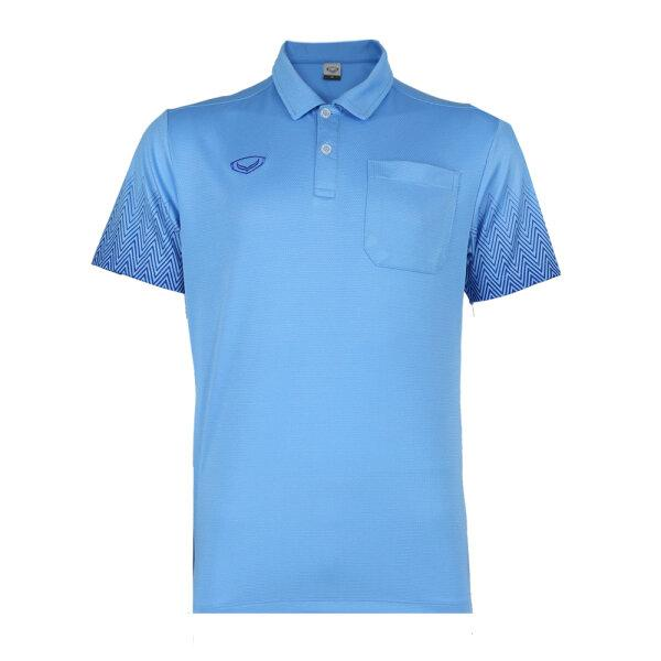 เสื้อโปโลชาย แกรนด์สปอร์ต รหัส : 012584 (สีฟ้า)