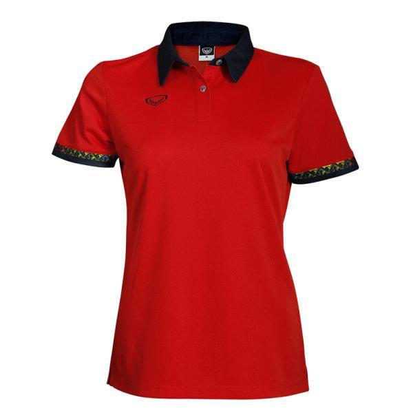 เสื้อโปโลหญิงแขนสั้น (สีแดง) รหัส : 012746