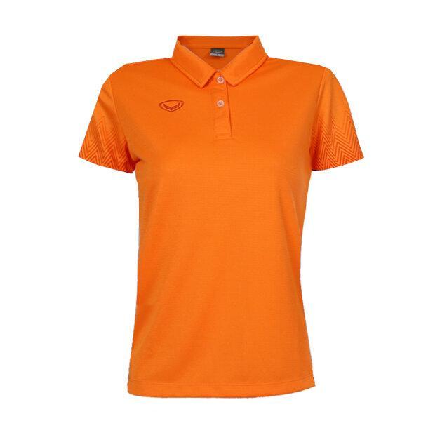 เสื้อโปโลหญิงพิมพ์แขน แกรนด์สปอร์ต รหัส : 012784 (สีส้ม)