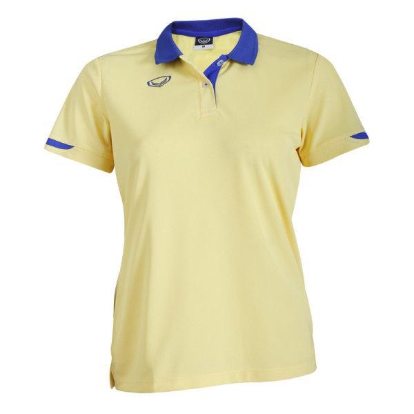 เสื้อโปโลหญิงแกรนด์สปอร์ต รหัส:012753 (สีเหลือง)