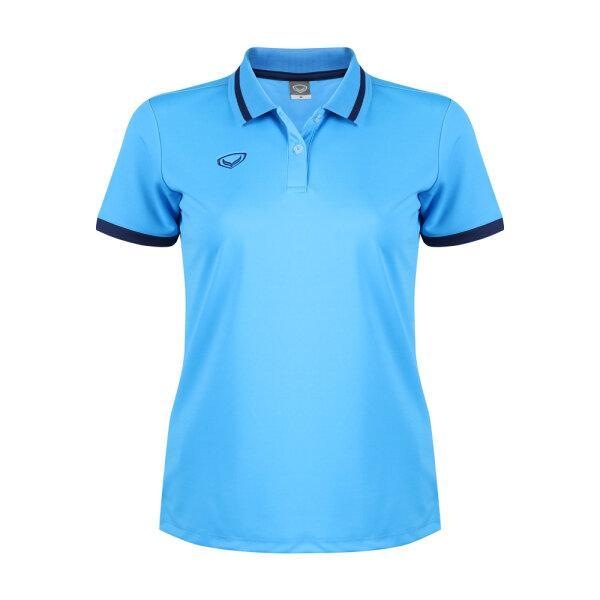 เสื้อโปโลหญิงแกรนด์สปอร์ต รหัสสินค้า : 012785 (สีฟ้า)