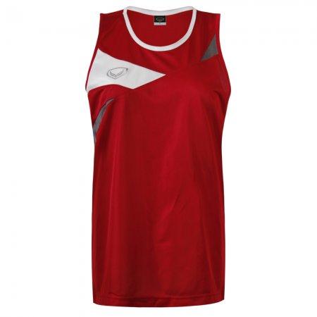 เสื้อวิ่งหญิงตัดต่อด้านหน้า(สีแดง) รหัส :017110