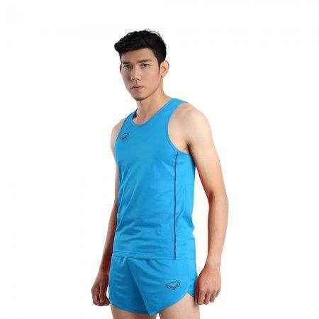 เสื้อวิ่งชายกุ้นด้านข้าง (Grand Sport RUNNING) รหัส: 017127 (สีฟ้า)