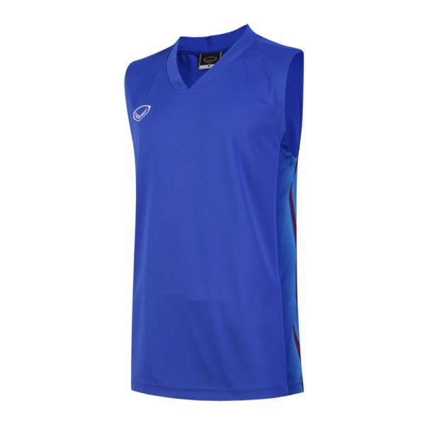 เสื้อบาสเกตบอลชายตัดต่อพิมพ์ลายแกรนด์สปอร์ต รหัสสินค้า :013160 (สีน้ำเงิน)